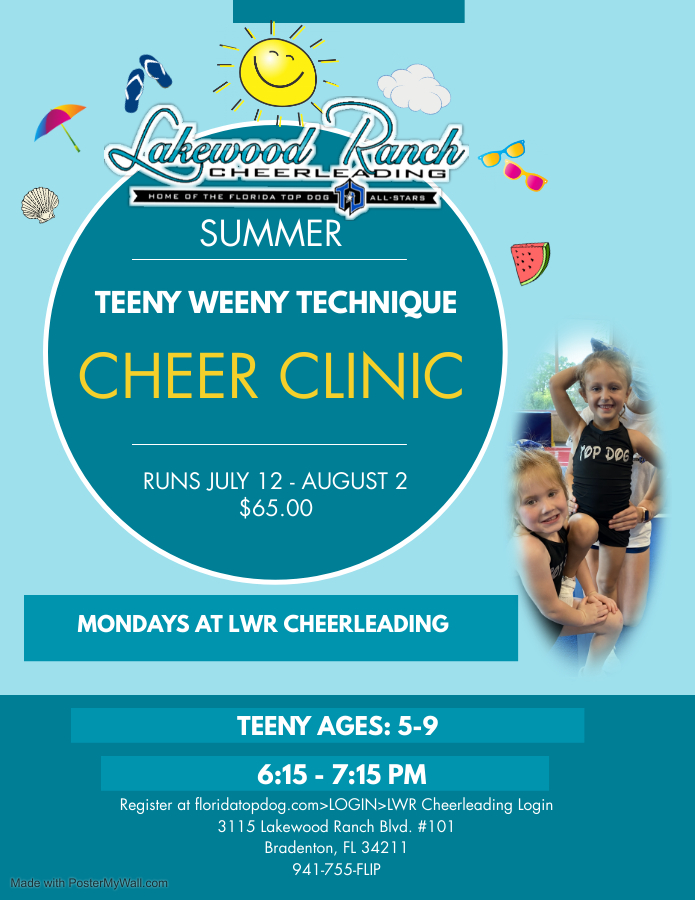 Read more about the article Summer Cheer Clinic at LWR Cheerleading!